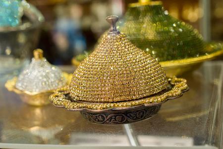 Ottoman Turkish antique kitchen utensils plate Stock Photo