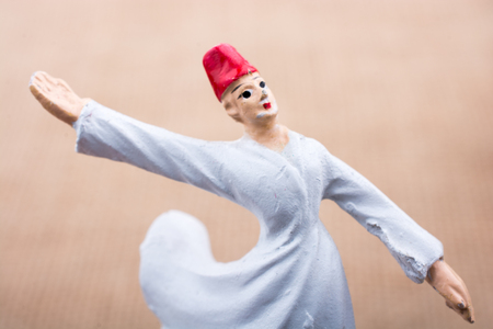 Sufi Dervish figurine model in small size in view