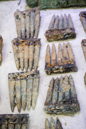 Cartridges of rusty bullet ammunition from the dardanelles war