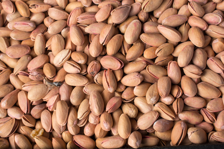 Pistachio nuts with shell ready to eat Stock Photo