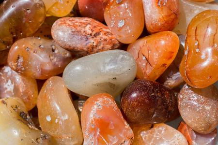 Agate gemstone as natural mineral rock specimen