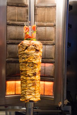 Traditional Turkish Doner Kebab on pole