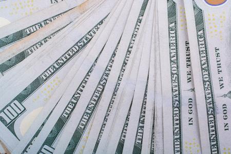 Close up of Benjamin Franklin face on 100 US dollar bill 스톡 콘텐츠 - 100848009