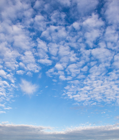 White color clouds found in the  blue sky background