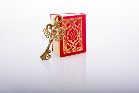 Retro Key and Islamic Holy Book Quran in mini size