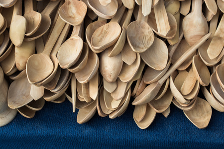 Set of tea spoons made of wood