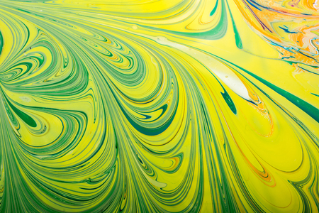Traditional Turkish marbling artwork patterns as colorful abstract background