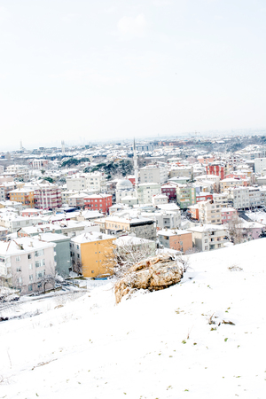 Winter views from Uskudar of istanbul in Turkey
