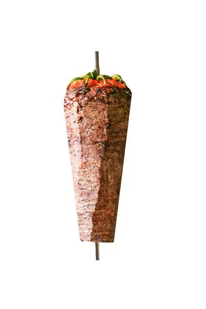 Turkish dish Döner Kebab as a turning roast