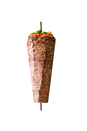 Turkish dish Döner Kebab as a turning roast