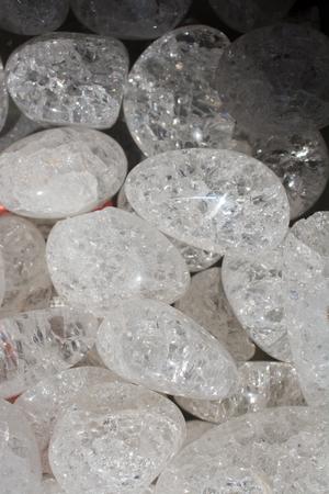 crystallized quartz (rock-crystal) gem stone as natural mineral rock specimen