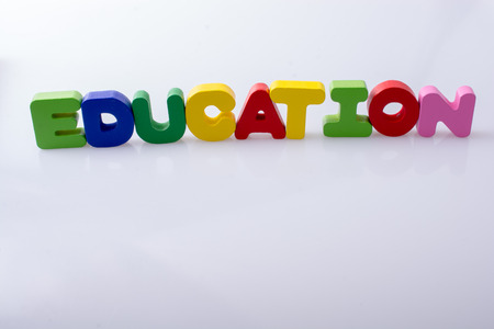 the word EDUCATION written with colorful letter blocks
