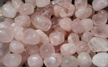 tumbled Rose Quartz gem stone as mineral rock specimen