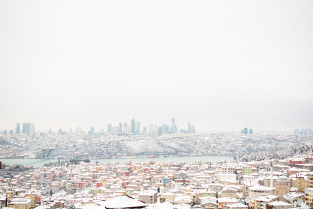 Winter views from Bosphorus Uskudar of istanbul in Turkey
