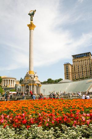 Independence square of capital city Kiev in Ukraine Фото со стока