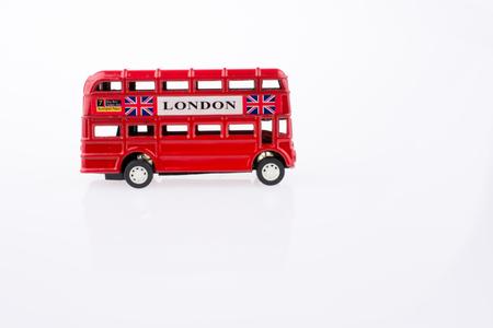 London Bus on a white background Standard-Bild