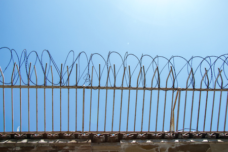 barbed wire fence used for protection purposes