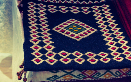 Traditional Turkish hand made carpet and rugs Banque d'images