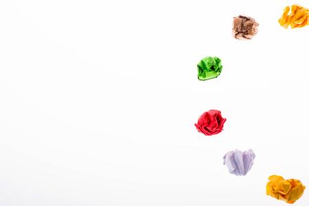 Colorful crumpled paper form a half  circle shape Stok Fotoğraf