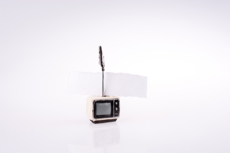 Retro styled television set on a white background