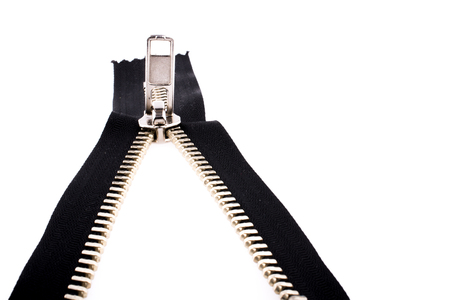 Color zipper on a white background Standard-Bild
