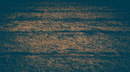 Plowed field with  traces in view in spring Banco de Imagens