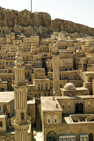 Landscape of the turkish city Mardin Stock Photo