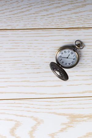 Brown color blank notebook, pen, pocket watch and sunglasses Standard-Bild