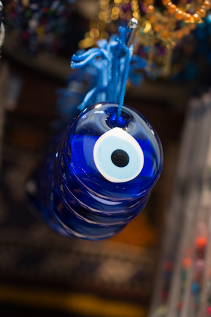 Evil eye bead as Amulet souvenir  from Turkey