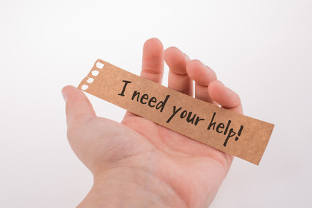 I need your help wording on paper in hand in view