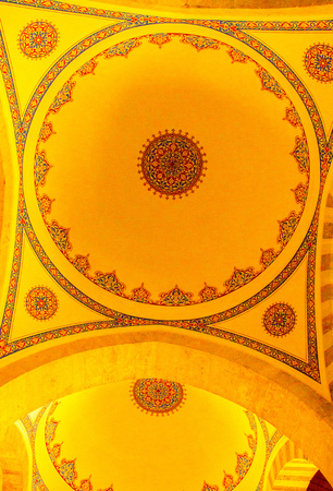Inner view of dome in Ottoman architecture in, Istanbul, Turkey