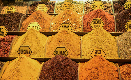 Spices at the Spice Market in Istanbul