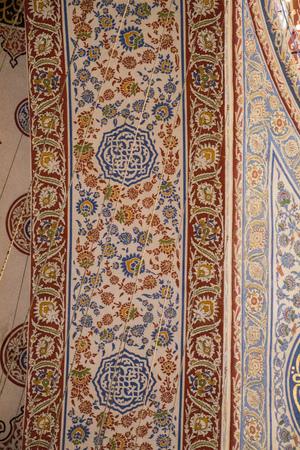 Bel exemple de motifs d'art ottoman en vue Banque d'images