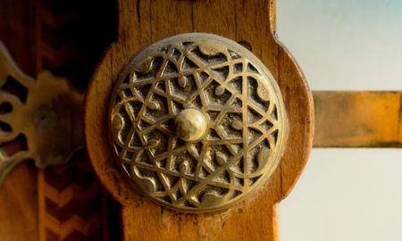 Old Handmade ottoman door knob made of metal Stockfoto
