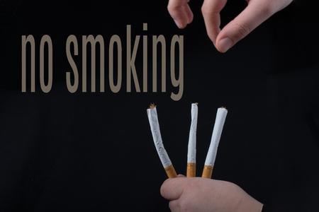 wording NO SMOKING as, say no smoking concept