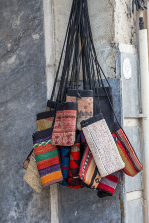Set of traditional style  woven purse 写真素材