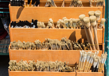 Set of painting brush at the market