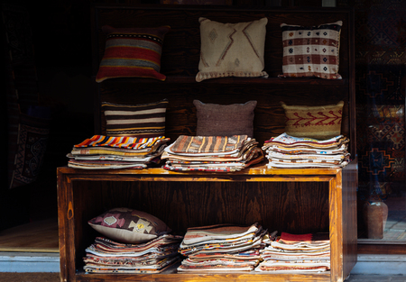 traditional Turkish handmade colorful natural fabric pillows