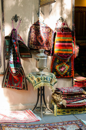 Old hand made carpet and rugs of  traditional types Standard-Bild - 120985339