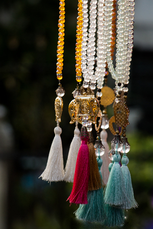 Selection of curtain ties or tassel in various colors