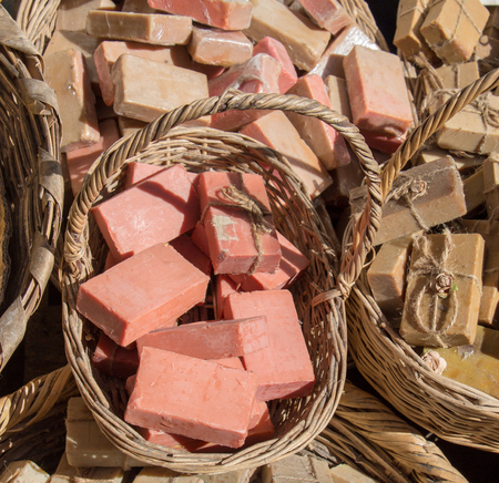Collection of bars of fragrant hand made organic soap