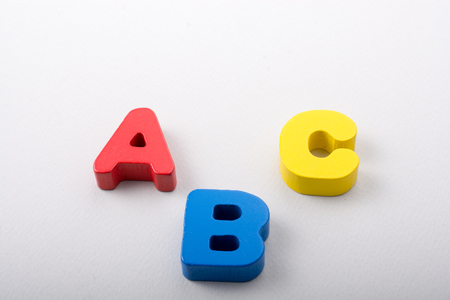 Letters of abc of alphabet on white color Stock fotó
