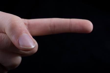 Hand pointing gesture on a white background Stock fotó