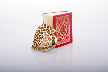 Heart shape  and Islamic Holy Book Quran mini size