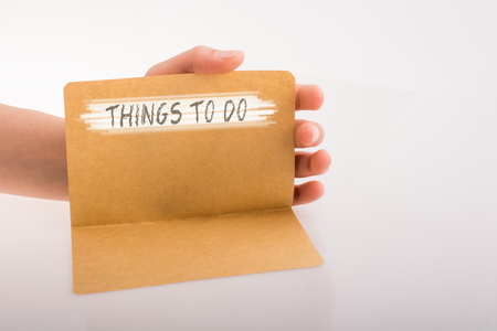 Things to do as a memo list in view