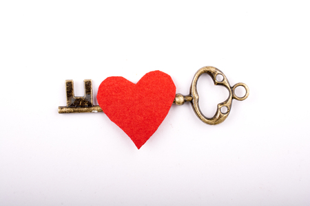 Retro style key on a colorful background Stock Photo