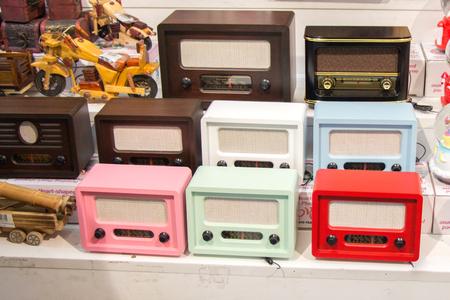 Set of retro styled image of  old radios