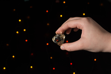 Fake diamond stone made with glass material