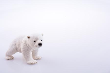 Polar bear model on a white background Stock Photo