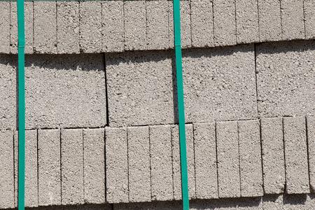 Pallets with concrete decorative pavement tile stones